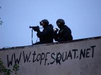 Räumung des besetzten Topf & Söhne Gelände in Erfurt